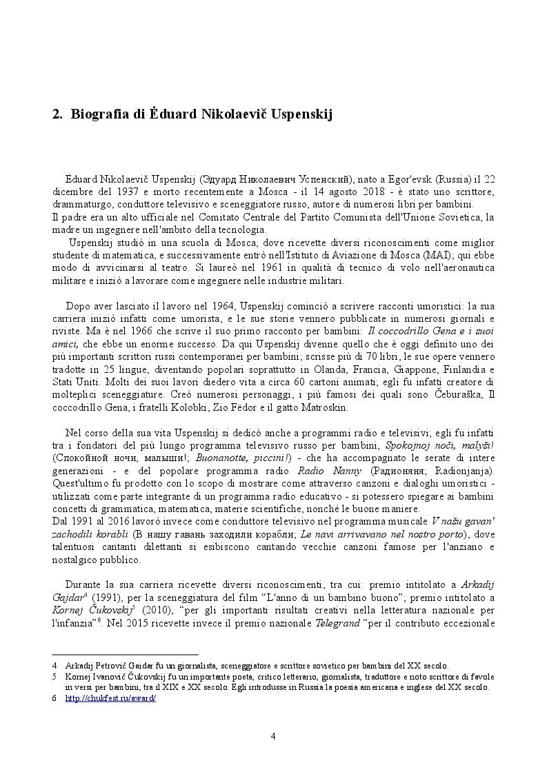 """Anteprima della tesi: """"Troe iz Prostokvašino"""", Il trio di Prostokvašino: traduzione di un cortometraggio d'animazione russo, Pagina 4"""