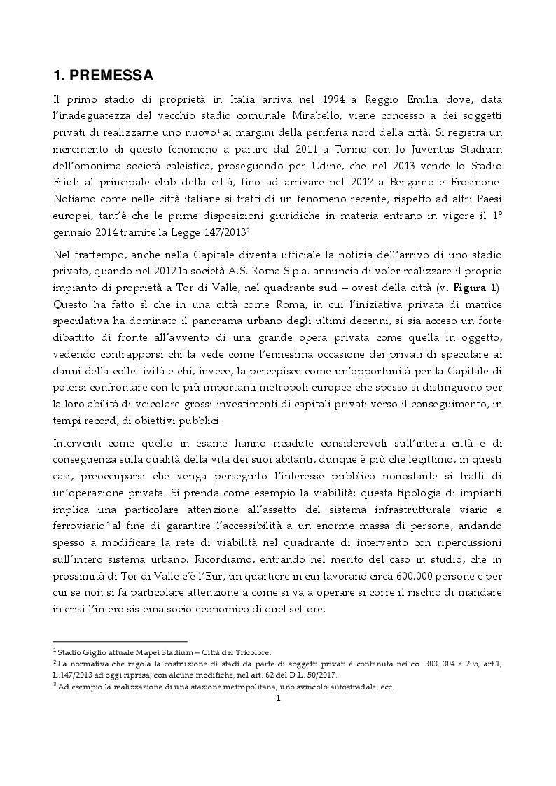 Anteprima della tesi: Lo Stadio di Tor di Valle: una questione controversa, Pagina 2