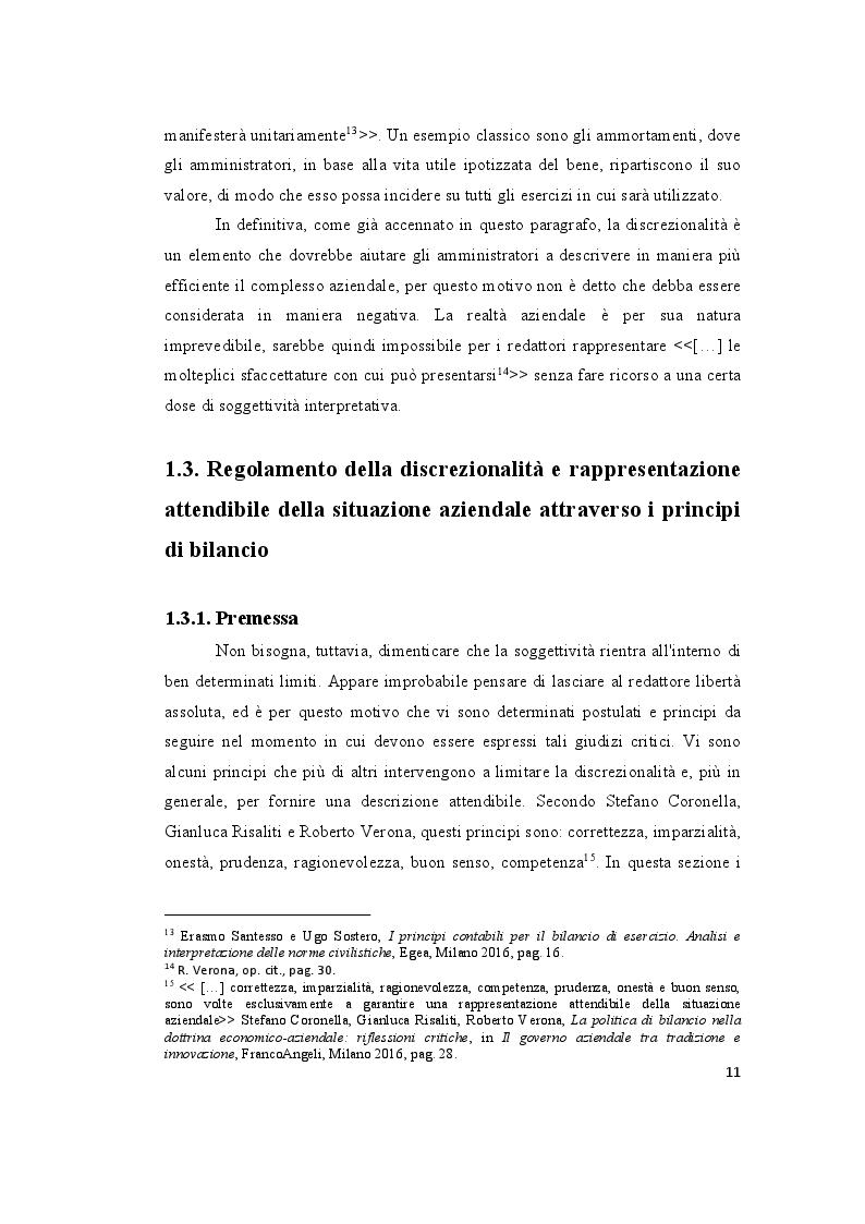 Estratto dalla tesi: Le valutazioni di bilancio tra rigore normativo e soggettività interpretativa