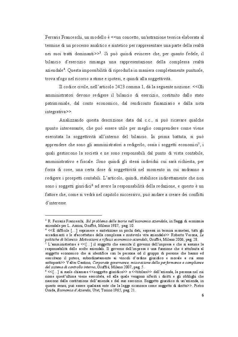Anteprima della tesi: Le valutazioni di bilancio tra rigore normativo e soggettività interpretativa, Pagina 4