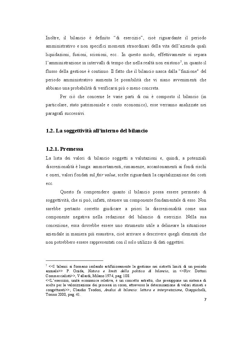 Anteprima della tesi: Le valutazioni di bilancio tra rigore normativo e soggettività interpretativa, Pagina 5
