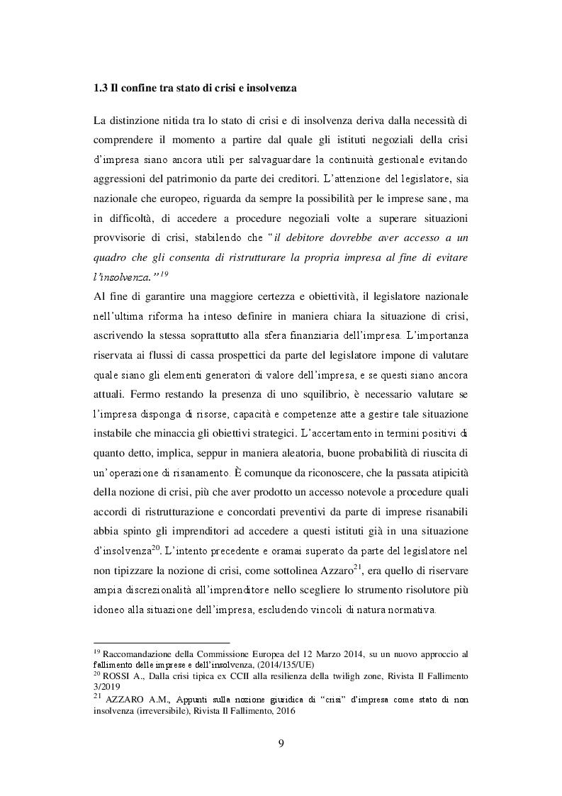 Estratto dalla tesi: I principi di redazione dei piani di risanamento