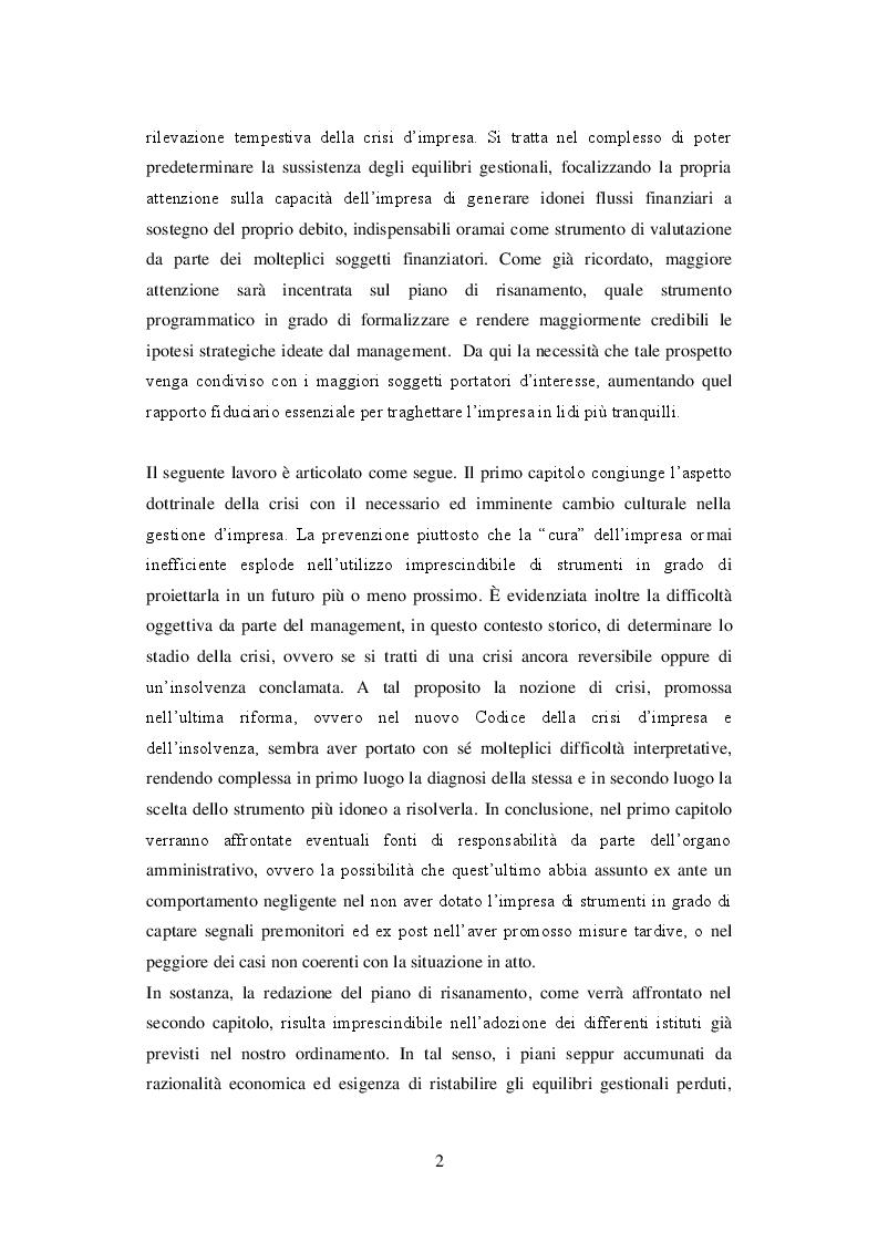 Anteprima della tesi: I principi di redazione dei piani di risanamento, Pagina 3