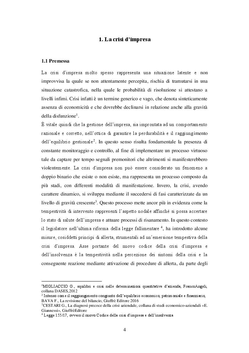 Anteprima della tesi: I principi di redazione dei piani di risanamento, Pagina 5