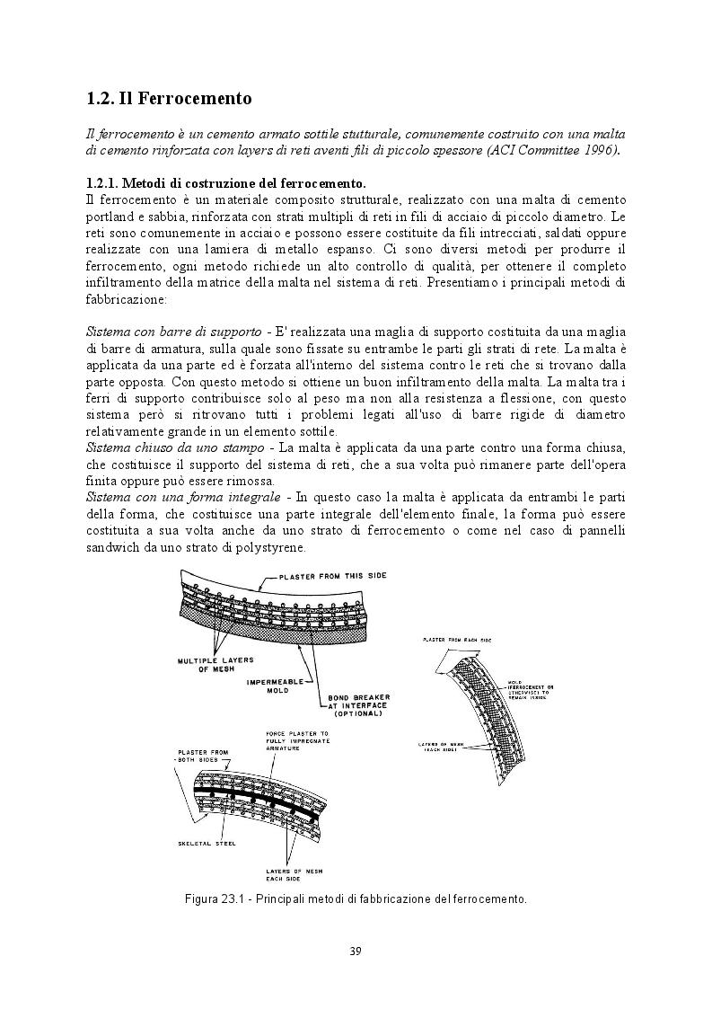 Estratto dalla tesi: Comportamento di strutture in calcestruzzo con armatura diffusa