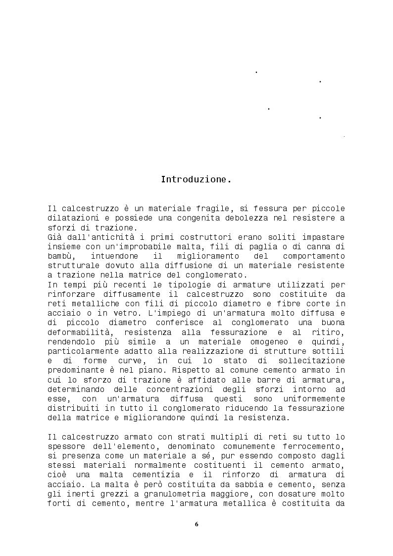Anteprima della tesi: Comportamento di strutture in calcestruzzo con armatura diffusa, Pagina 2