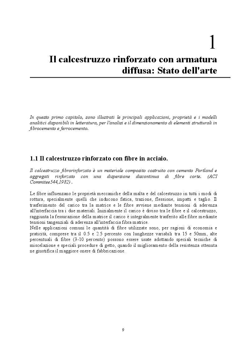 Anteprima della tesi: Comportamento di strutture in calcestruzzo con armatura diffusa, Pagina 5