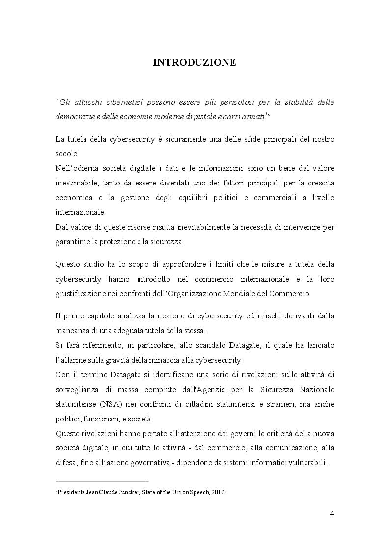 Anteprima della tesi: Gli standard a tutela della Cybersecurity e l'Organizzazione Mondiale del Commercio, Pagina 2