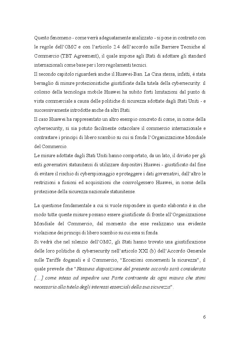 Anteprima della tesi: Gli standard a tutela della Cybersecurity e l'Organizzazione Mondiale del Commercio, Pagina 4