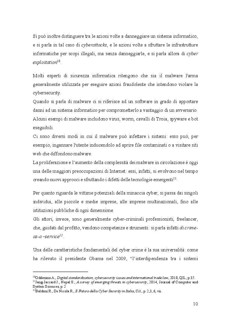Anteprima della tesi: Gli standard a tutela della Cybersecurity e l'Organizzazione Mondiale del Commercio, Pagina 8