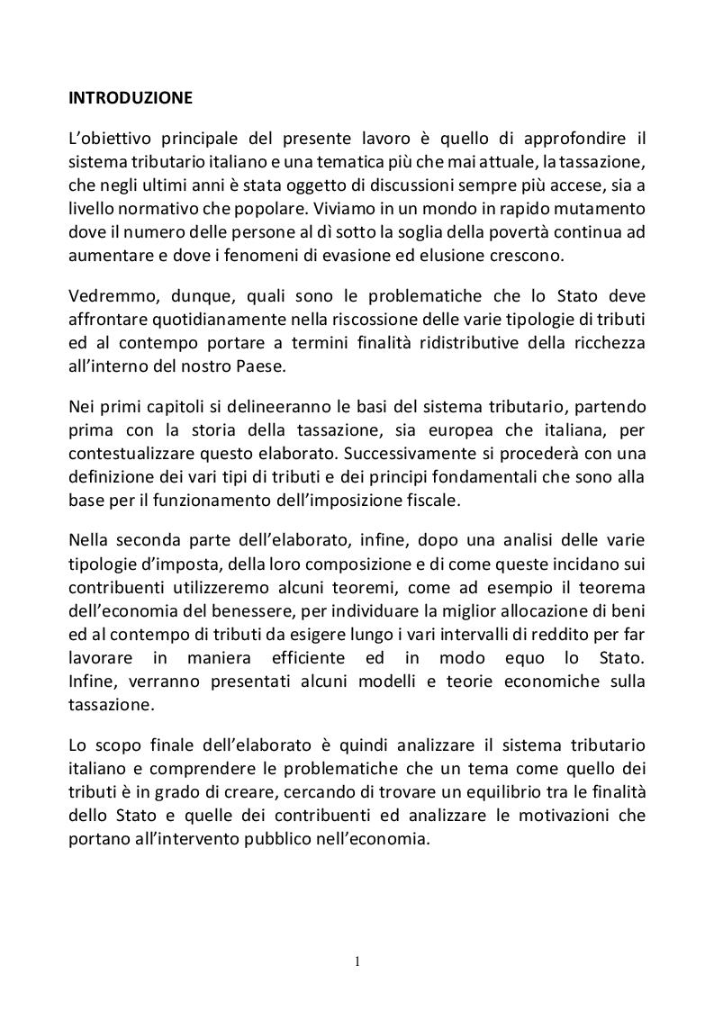 Anteprima della tesi: La tassazione: modelli e previsioni di diverse politiche economiche, Pagina 2