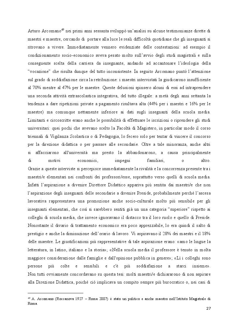 Anteprima della tesi: Le donne insegnanti nella scuola italiana, Pagina 4