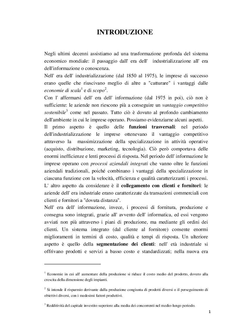 Anteprima della tesi: La Balanced Scorecard a supporto dell'attività direzionale: criticità e profili innovativi, Pagina 2