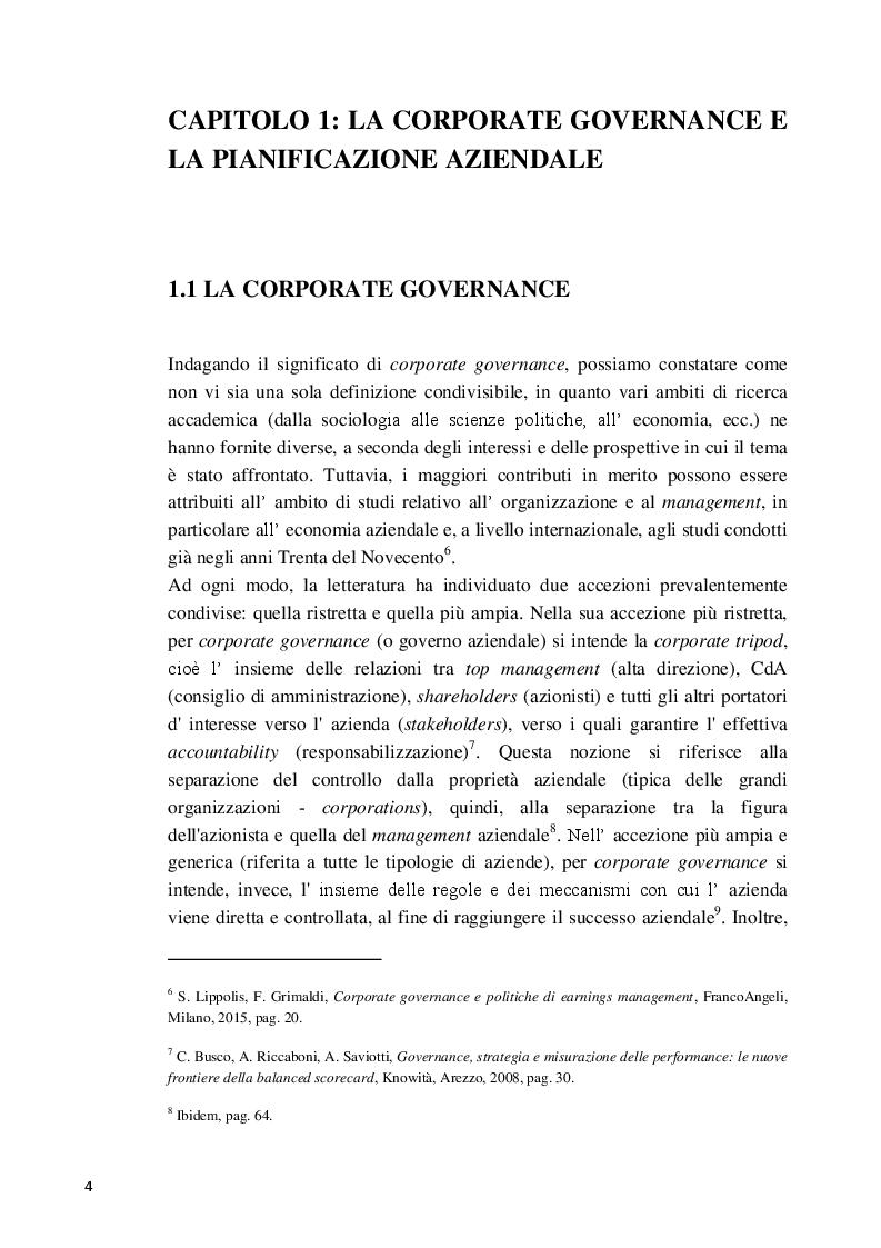 Anteprima della tesi: La Balanced Scorecard a supporto dell'attività direzionale: criticità e profili innovativi, Pagina 5