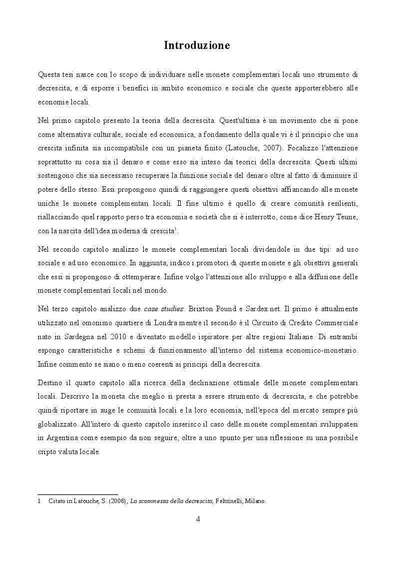 Anteprima della tesi: La scommessa delle monete complementari in un'ottica di decrescita, Pagina 2