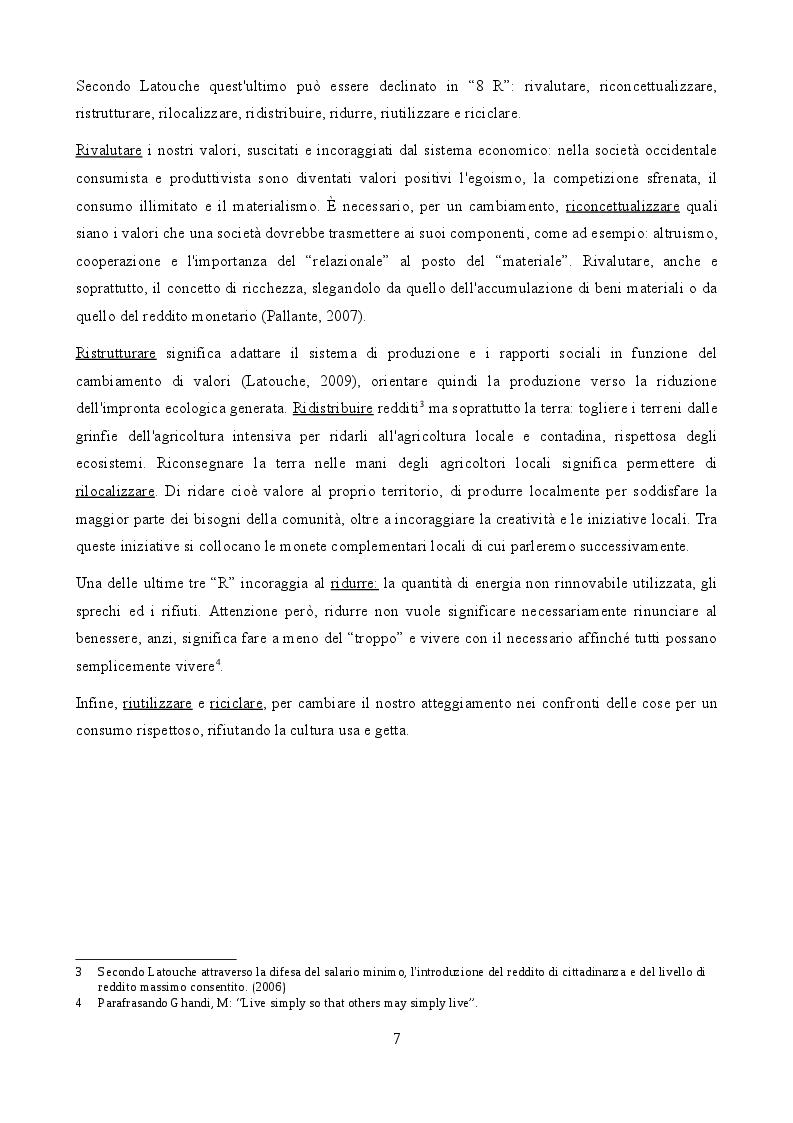 Anteprima della tesi: La scommessa delle monete complementari in un'ottica di decrescita, Pagina 5