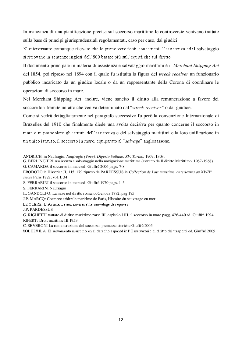 Anteprima della tesi: La disciplina del soccorso in mare: pericolo e tutela dell'ambiente, Pagina 8