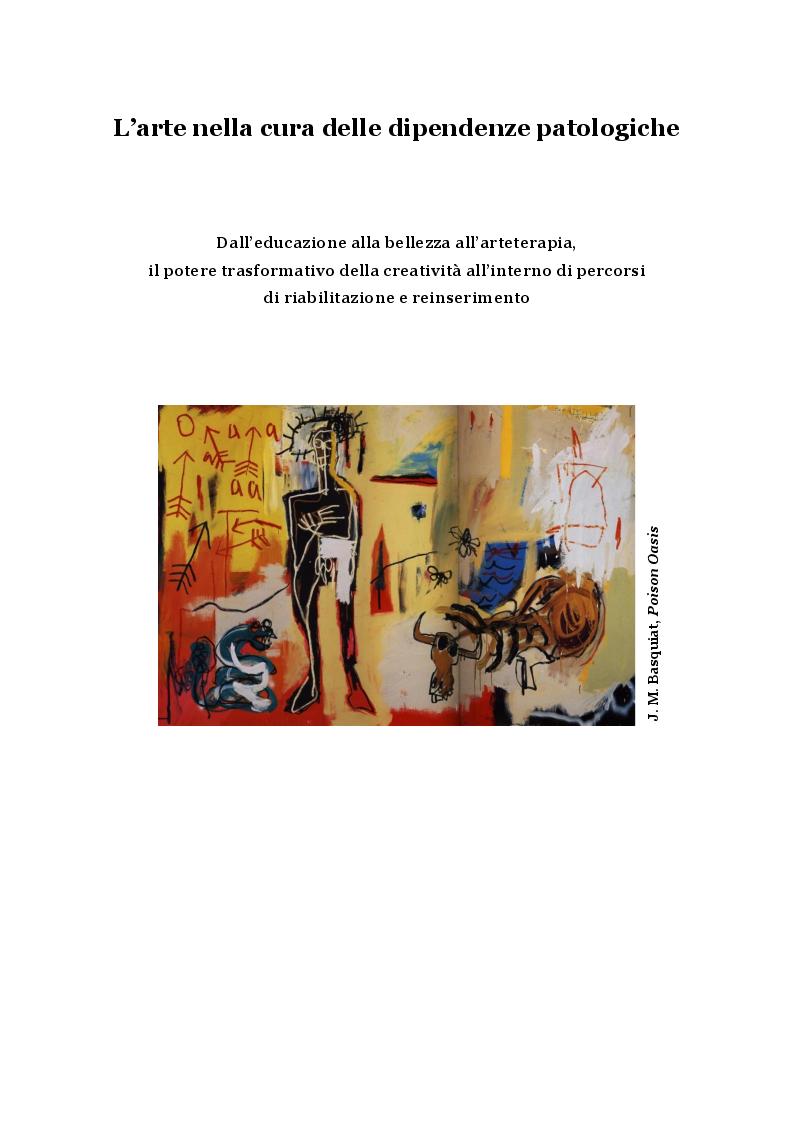 Anteprima della tesi: L'arte nella cura delle dipendenze patologiche, Pagina 2