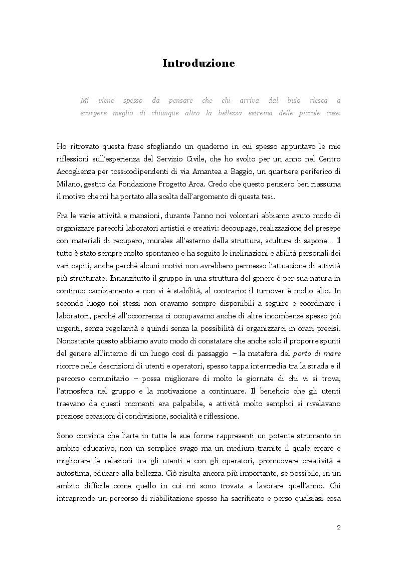 Anteprima della tesi: L'arte nella cura delle dipendenze patologiche, Pagina 3