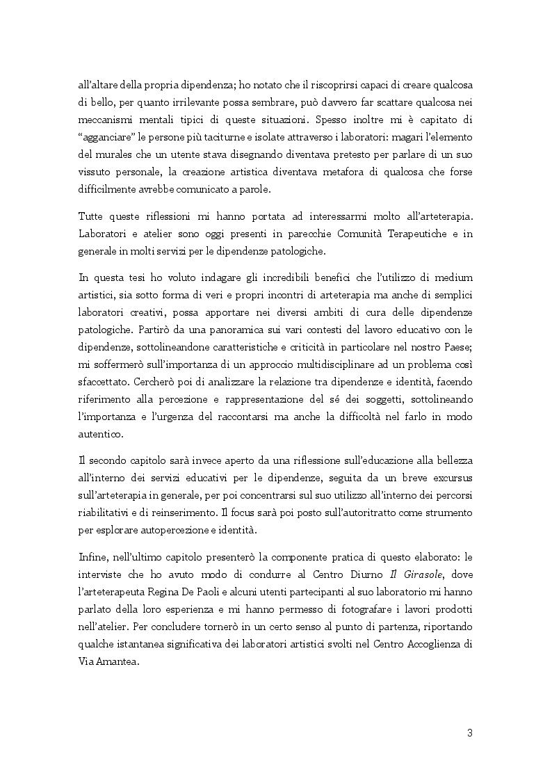 Anteprima della tesi: L'arte nella cura delle dipendenze patologiche, Pagina 4