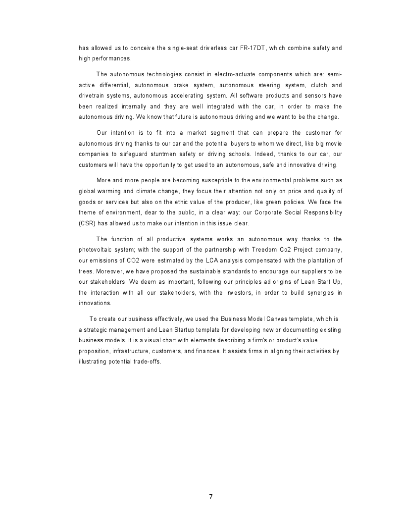 Anteprima della tesi: Business Plan for an Autonomous Driving Formula car in the FSG17 competition, Pagina 4