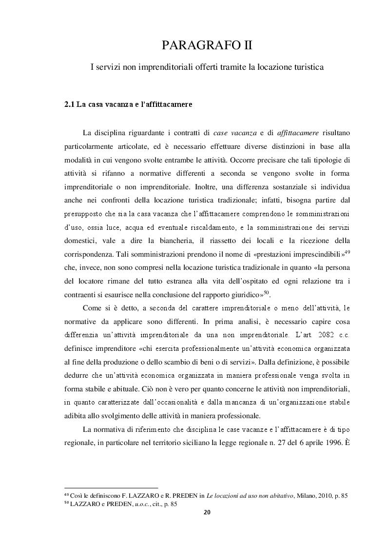 Anteprima della tesi: Locazione e servizi ricettivi in ambito turistico, Pagina 2