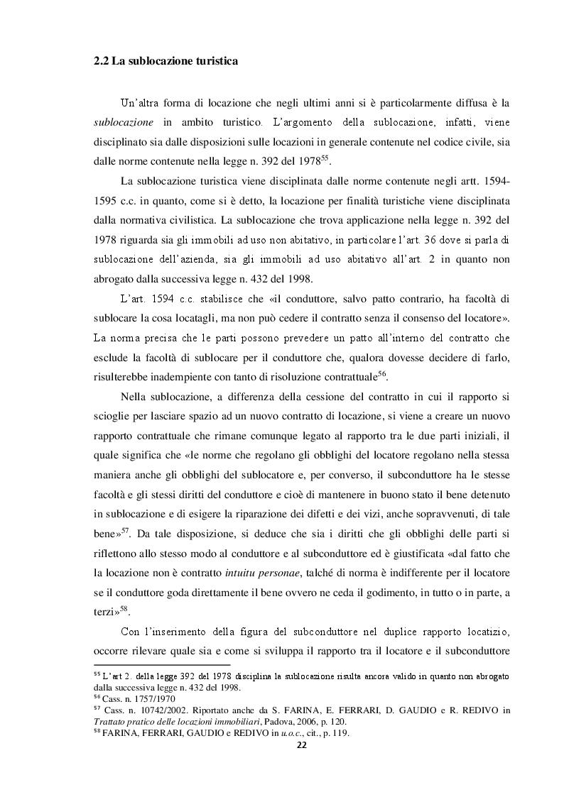 Anteprima della tesi: Locazione e servizi ricettivi in ambito turistico, Pagina 4