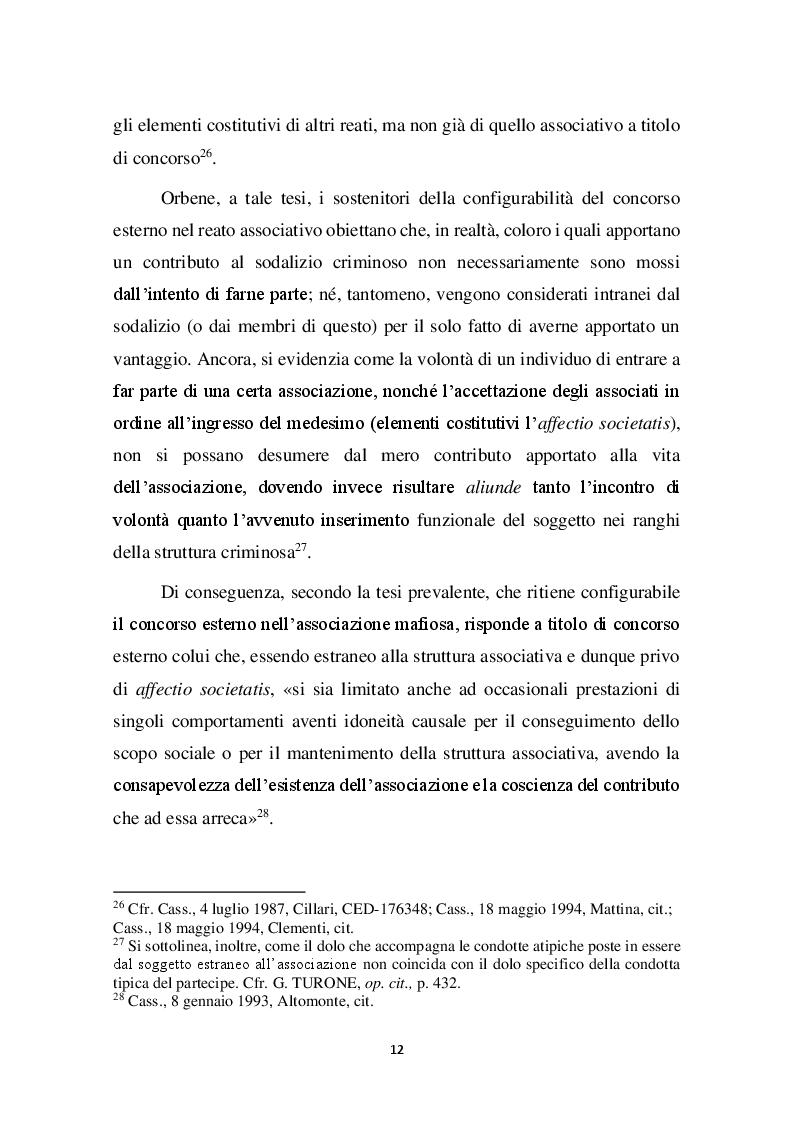 Estratto dalla tesi: Concorso esterno in associazione mafiosa e principio di legalità convenzionale: il problematico adeguamento dell'ordinamento italiano alla sentenza della Corte Europea Dei Diritti Dell'Uomo sul caso Contrada c. Italia