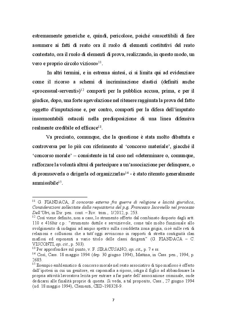 Anteprima della tesi: Concorso esterno in associazione mafiosa e principio di legalità convenzionale: il problematico adeguamento dell'ordinamento italiano alla sentenza della Corte Europea Dei Diritti Dell'Uomo sul caso Contrada c. Italia, Pagina 8