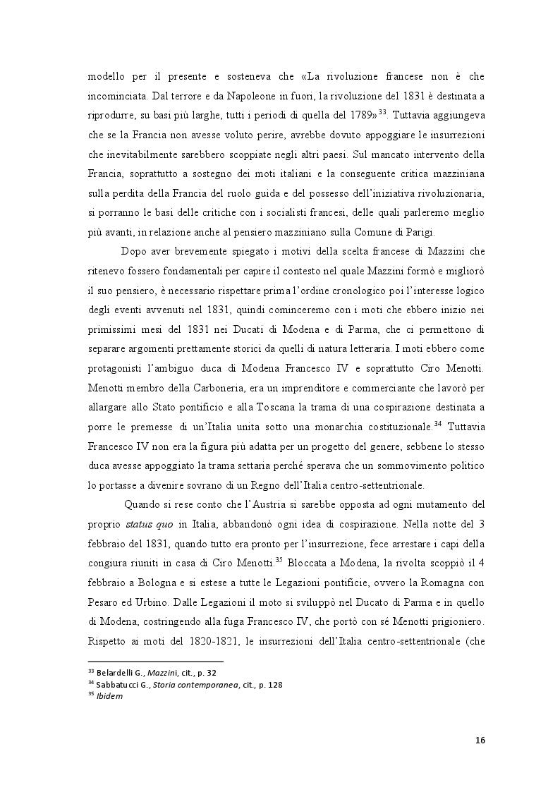 Estratto dalla tesi: Repubblica Romana, Comune di Parigi: momenti del pensiero mazziniano