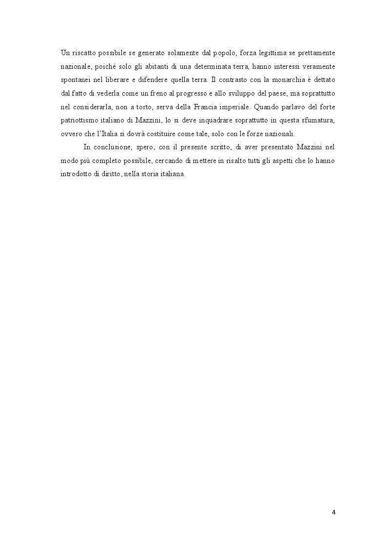 Anteprima della tesi: Repubblica Romana, Comune di Parigi: momenti del pensiero mazziniano, Pagina 3
