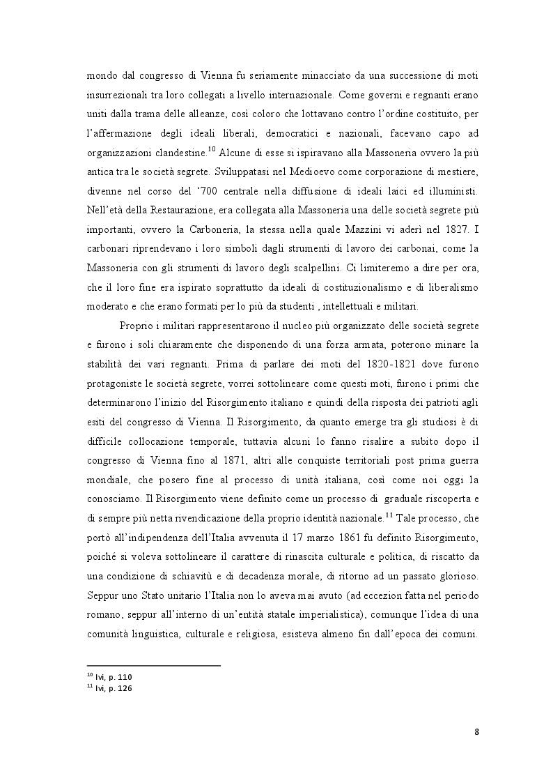 Anteprima della tesi: Repubblica Romana, Comune di Parigi: momenti del pensiero mazziniano, Pagina 7