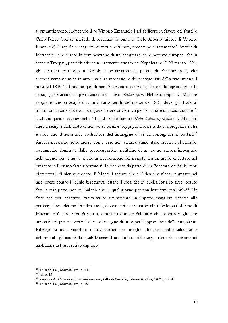 Anteprima della tesi: Repubblica Romana, Comune di Parigi: momenti del pensiero mazziniano, Pagina 9