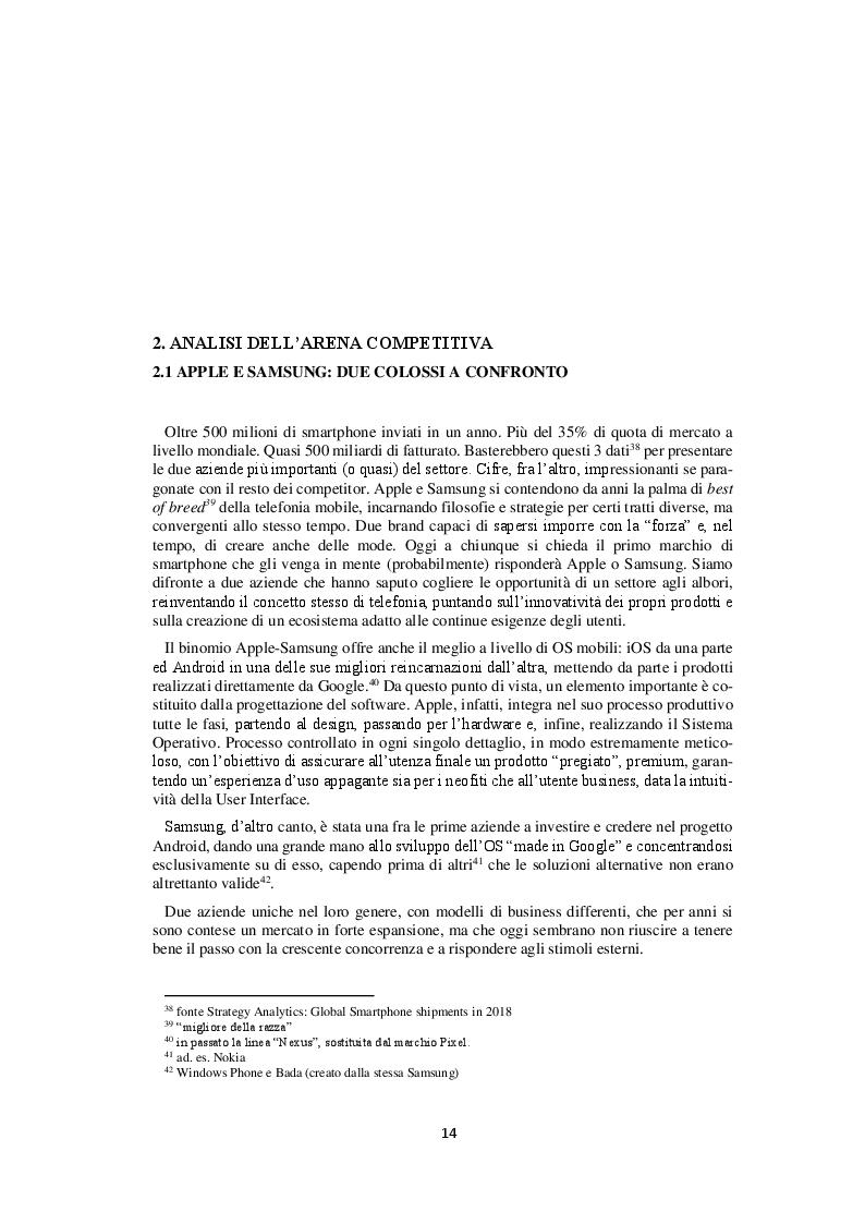 Anteprima della tesi: Competitor e tensioni strategiche del mercato degli smartphone, Pagina 2