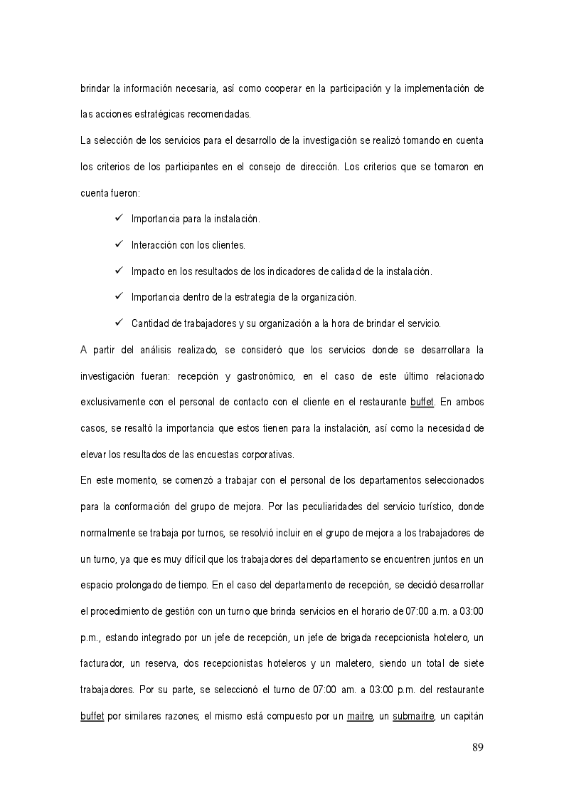Anteprima della tesi: La gestión del sistema de calidad basado en valores en los servicios hoteleros, Pagina 5