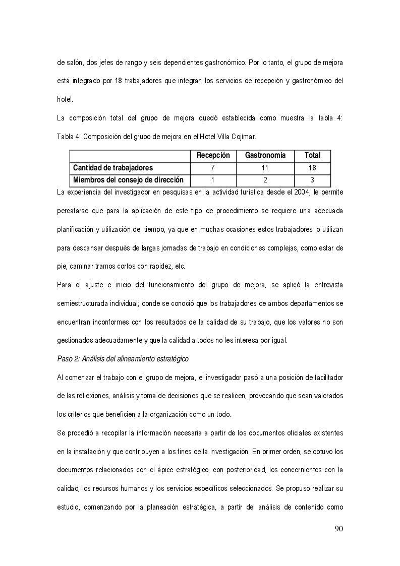 Anteprima della tesi: La gestión del sistema de calidad basado en valores en los servicios hoteleros, Pagina 6
