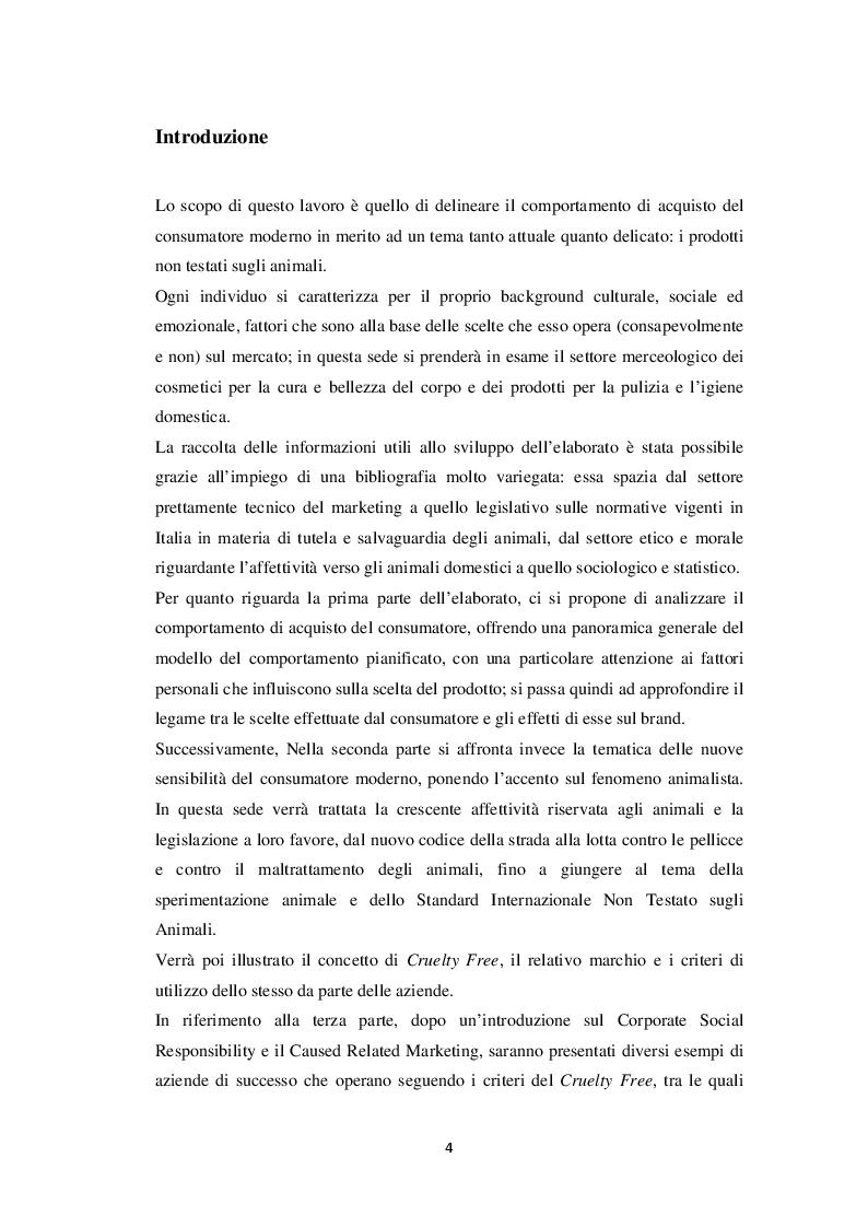 """Anteprima della tesi: L'influenza del fattore """"cruelty free"""" nel comportamento d'acquisto del consumatore: un'indagine empirica, Pagina 2"""