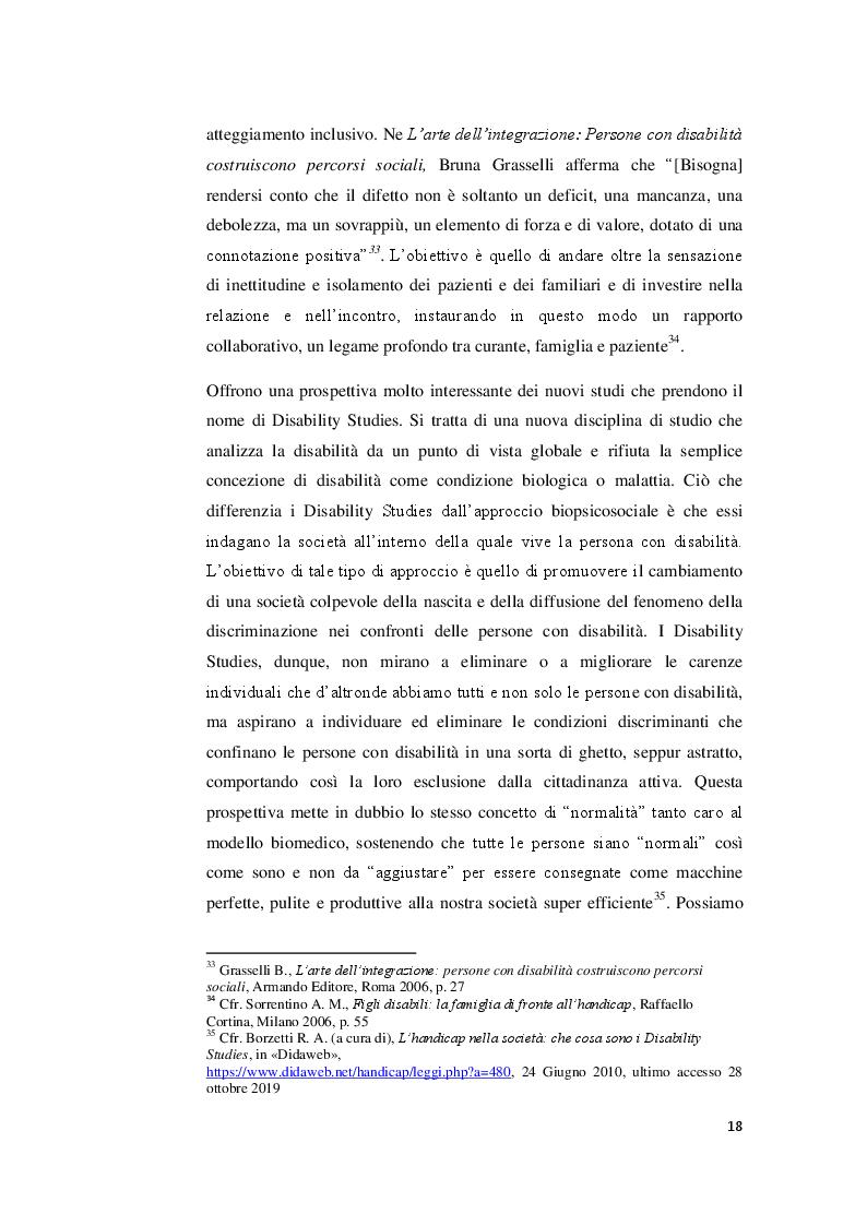 Anteprima della tesi: I valori familiari alla prova della disabilità. Realtà e narrazione cinematografica, Pagina 4