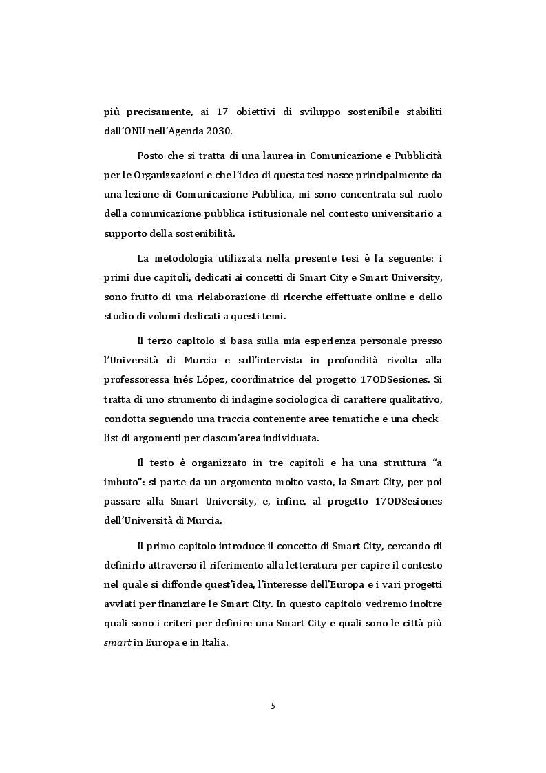 Anteprima della tesi: Smart University - La comunicazione pubblica istituzionale a supporto della sostenibilità nel contesto universitario, Pagina 3