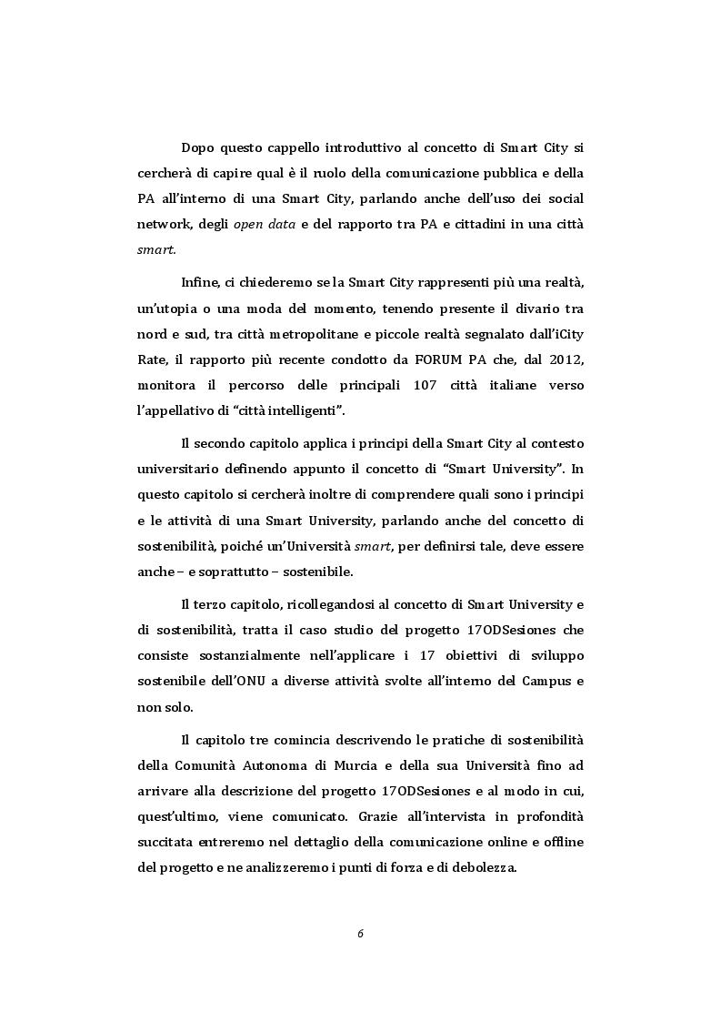 Anteprima della tesi: Smart University - La comunicazione pubblica istituzionale a supporto della sostenibilità nel contesto universitario, Pagina 4