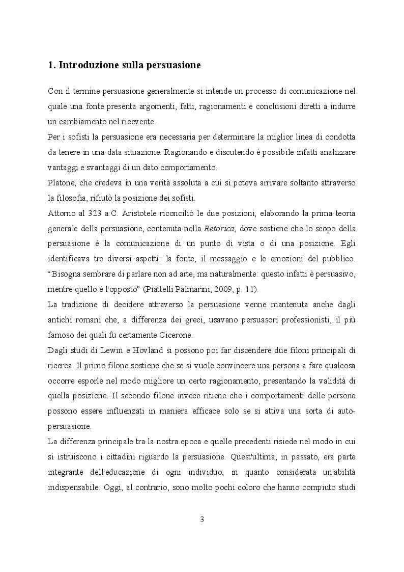 Anteprima della tesi: Un'euristica della persuasione: il principio della riprova sociale, Pagina 2