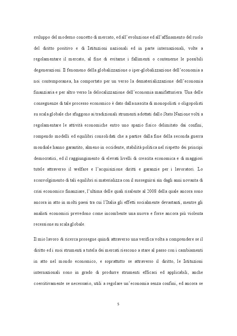 """Anteprima della tesi: La """"Costituzione economica"""" nel contesto della globalizzazione dell'economia. Crescita dei monopoli e concentrazione della ricchezza su scala globale. Ruolo regolatore degli organismi internazionali, Pagina 3"""