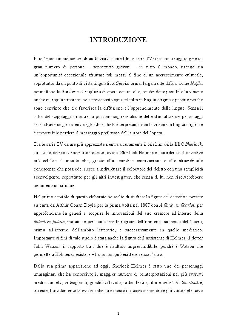 Anteprima della tesi: Analisi traduttologica della serie BBC ''Sherlock'', Pagina 2