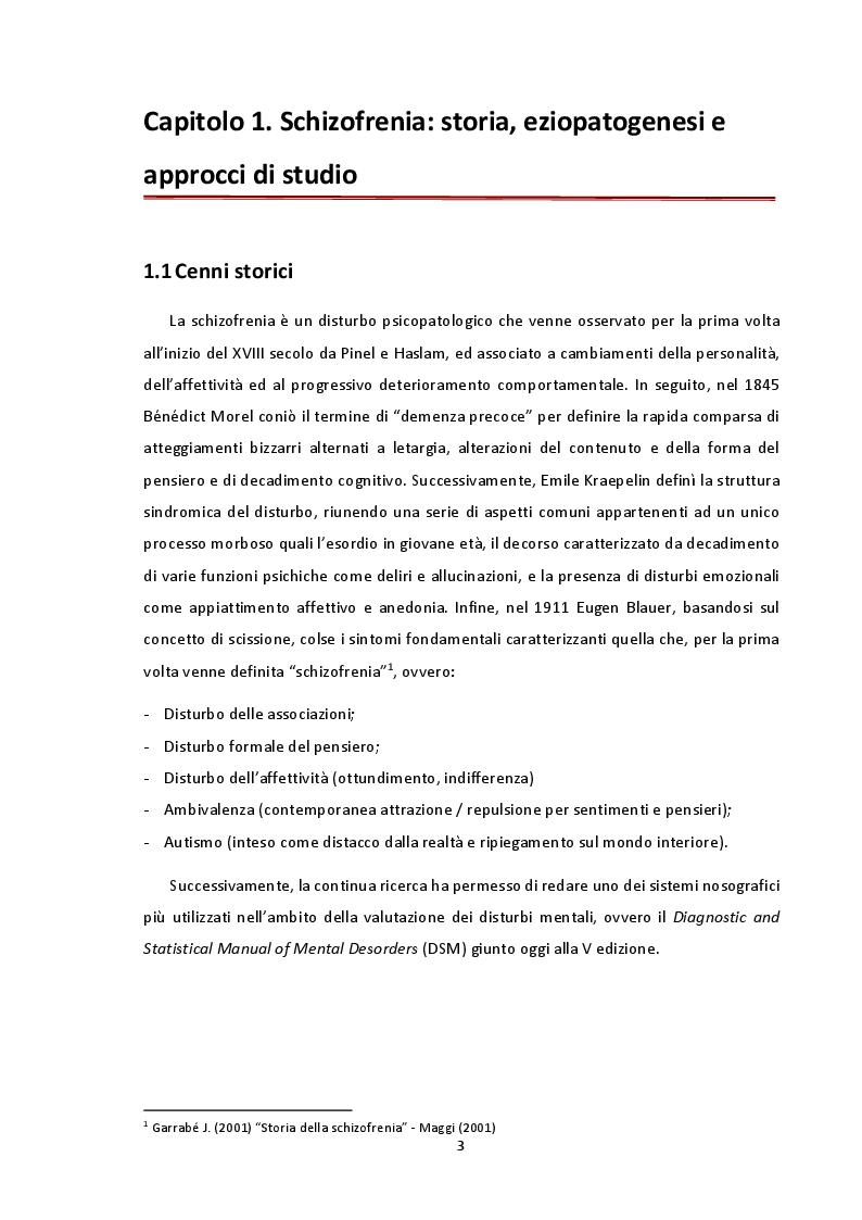Anteprima della tesi: Analisi delle concentrazioni e distribuzioni delle dimensioni del DNA libero circolante nella schizofrenia mediante spettroscopia di correlazione alla fluorescenza, Pagina 3