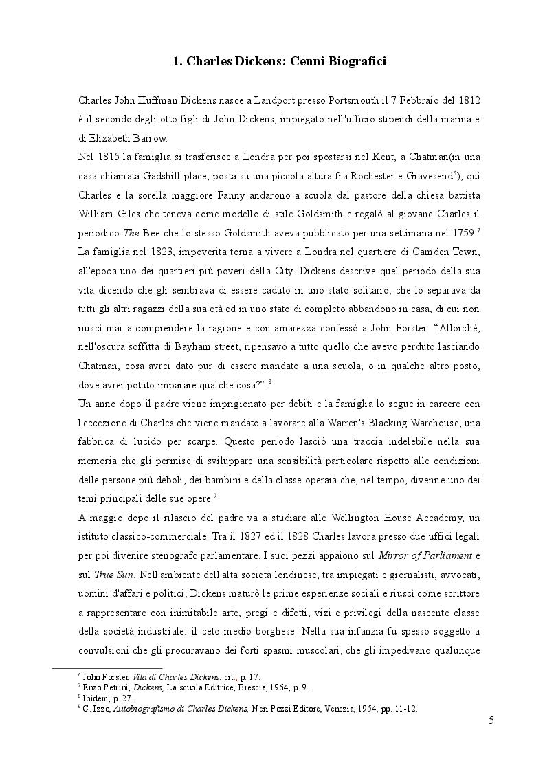 Anteprima della tesi: Nel labirinto. Bleak House di Charles Dickens, Pagina 4