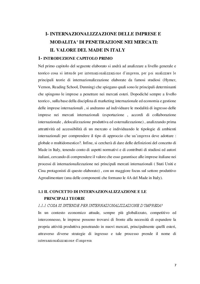 Anteprima della tesi: Strategie del Made In Italy: Un confronto tra USA e Cina, Pagina 4