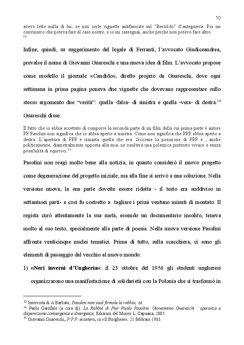 Estratto dalla tesi: La rabbia di Pasolini: genesi, restauro ed iconografia di un film sperimentale