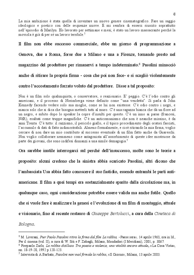Anteprima della tesi: La rabbia di Pasolini: genesi, restauro ed iconografia di un film sperimentale, Pagina 4