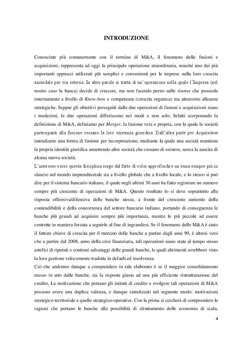 Anteprima della tesi: Le operazioni di fusione e acquisizione in ambito bancario: focus sul caso Crédit Agricole, Pagina 2