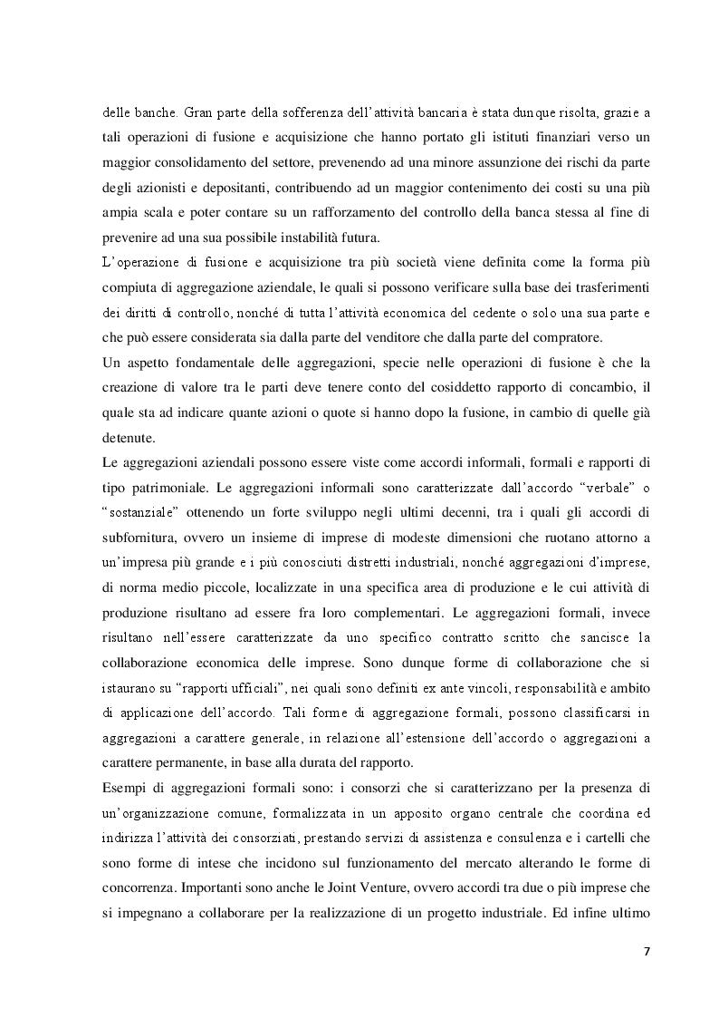 Anteprima della tesi: Le operazioni di fusione e acquisizione in ambito bancario: focus sul caso Crédit Agricole, Pagina 5
